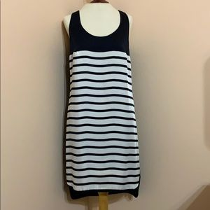 Michael Kors Navy and White Tank Dress
